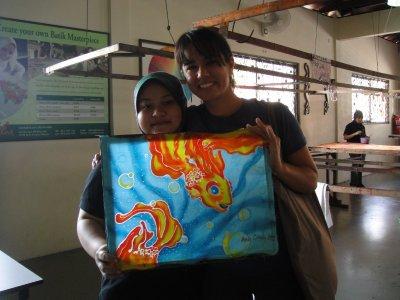 Cindy and her Batik experiment.