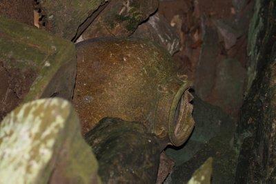 Pot in burial site