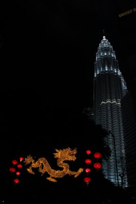 Petronas tower, new year of the Dragon!