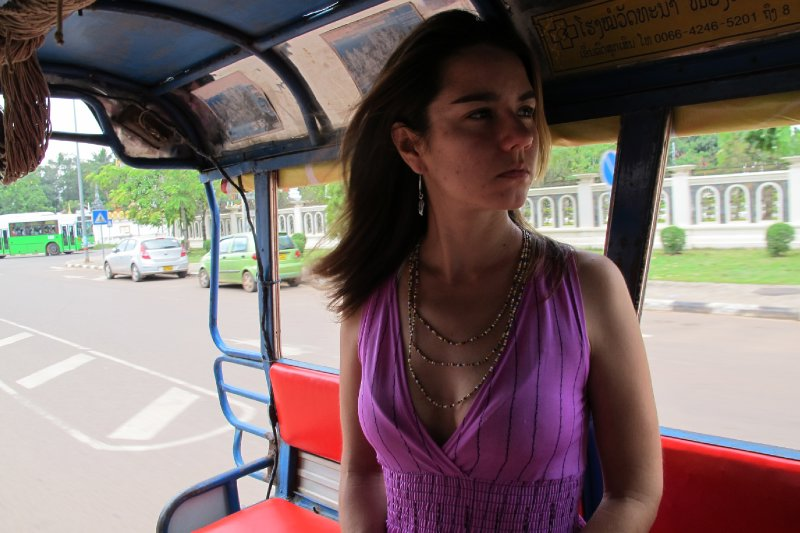 Cindy in Tuk Tuk