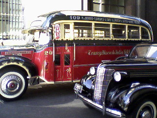 Old bus and car