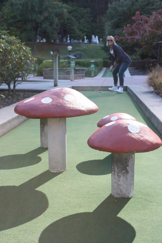 Minigolf i Queenstown