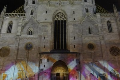 The colorful side of St. Stephen's Cathedral