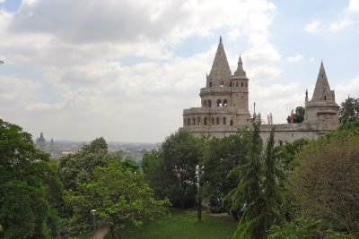 Fisherman's Bastion through the trees