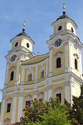 The Mondsee Cathedral in Mondsee