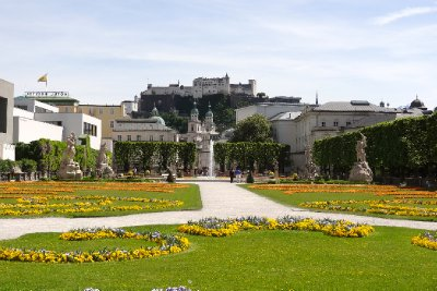 Maribellplatz Gardens in Salzburg