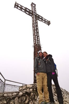 Posing on the top of Untersberg Mountian