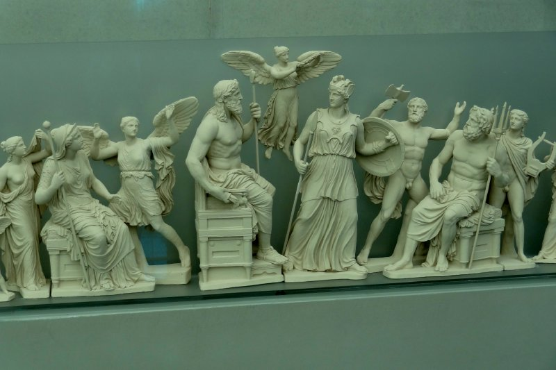Diorama of the West Pediment of the Parthenon