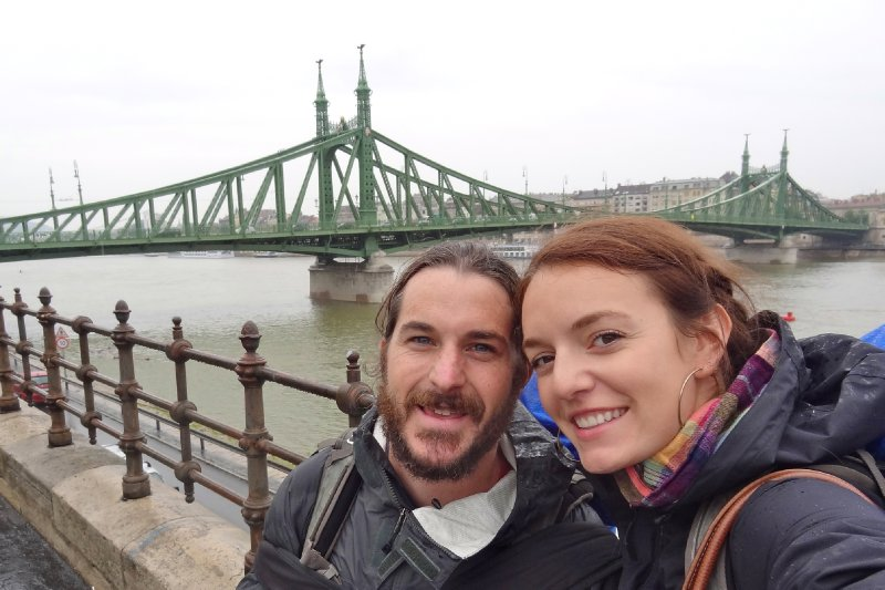 Walking in the rain from Buda to Pest