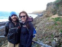 Us overlooking the fur seals