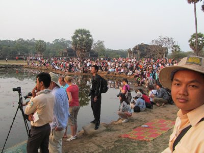 Morning Crowd at Angkor Wat.