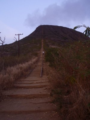 Stairs straight up Koko Head!