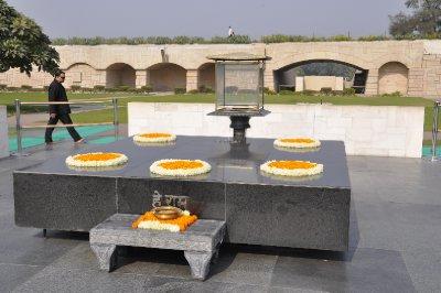 Ghandi's memorial