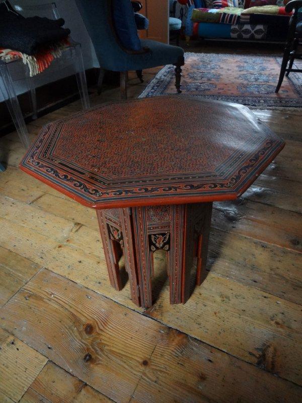 Burmese lacquer table