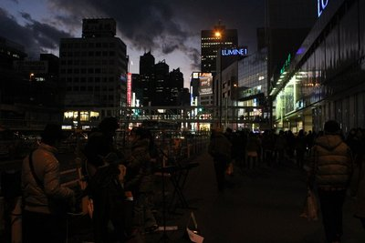 Busking out front of Shinjuku station