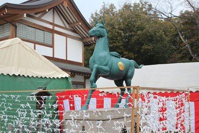 Prayer Horse statue
