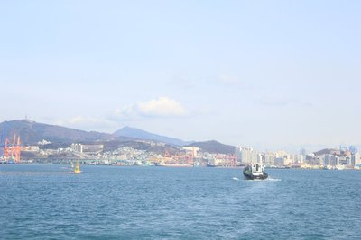Coming into port Busan