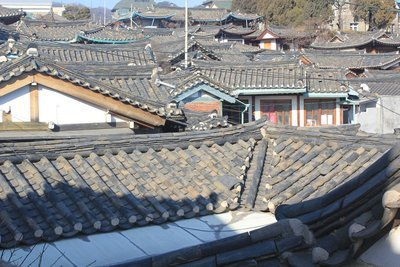 Traditional korean village rooftops