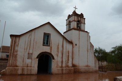 Eglise de San Pedro apres l'orage