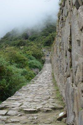 Montee au cerro Machu Picchu