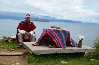 Isla del Sol - ceremonie Aymara