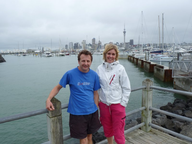 Maria and Damon in the harbour