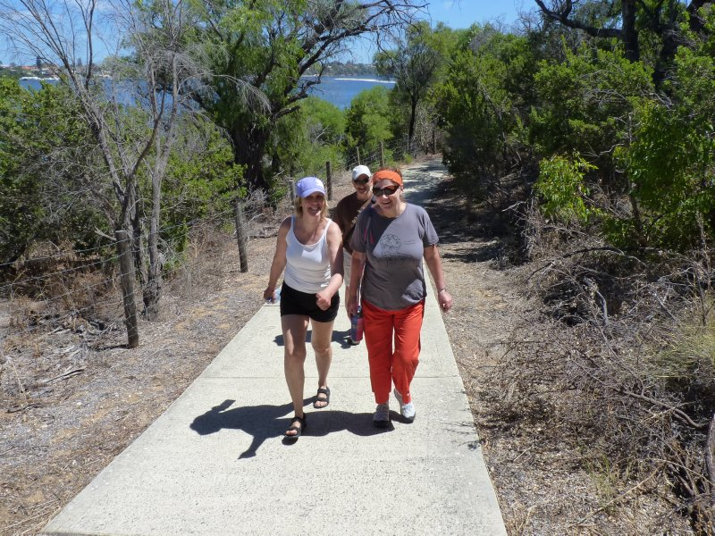Walking with Liz and Maarten