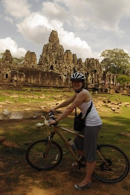 Lynne outside Bayon.