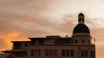 Clock Tower Sunset
