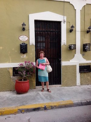 Cathy and door