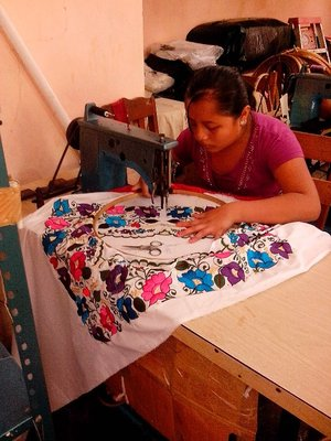 Embroidery in Kimbala