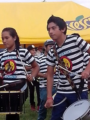 A young drum group