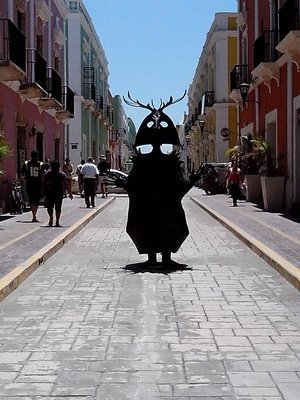 One of the Campeche centro sculptures