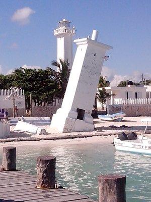 light houses in Puerto Morelos