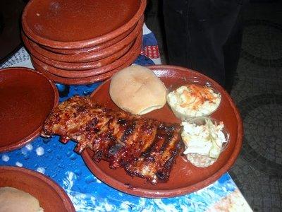 All you can eat ribs at La Casa del Faro in Chicxulub