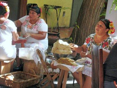Chaya Maya tortillas in the making
