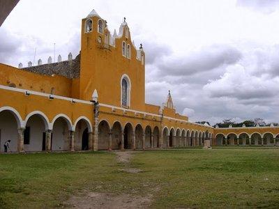 Church front in Izamal