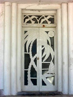 Door on the malecon in Progreso