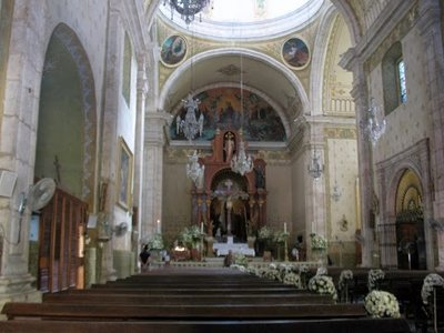 Interior of the Merida cathedral