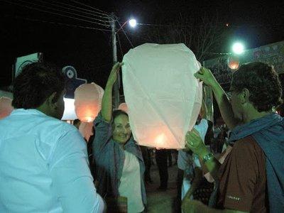 Our lantern ready to go
