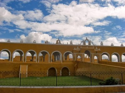 another view of the church grounds in Izamal