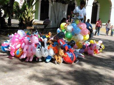 balloon vendor in the square
