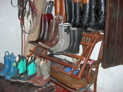 in the tack room