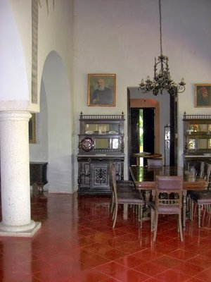 interior of the hacienda