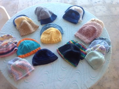 knit hats for Mexico