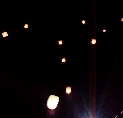 lanterns released in Valladolid