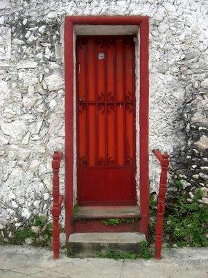 nice red door