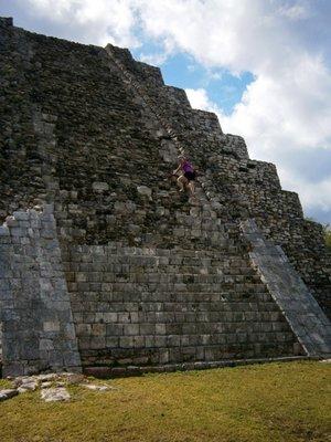 me climbing up