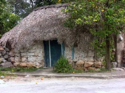 traditional old style Mayan house