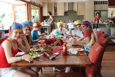 The kids Christmas Table